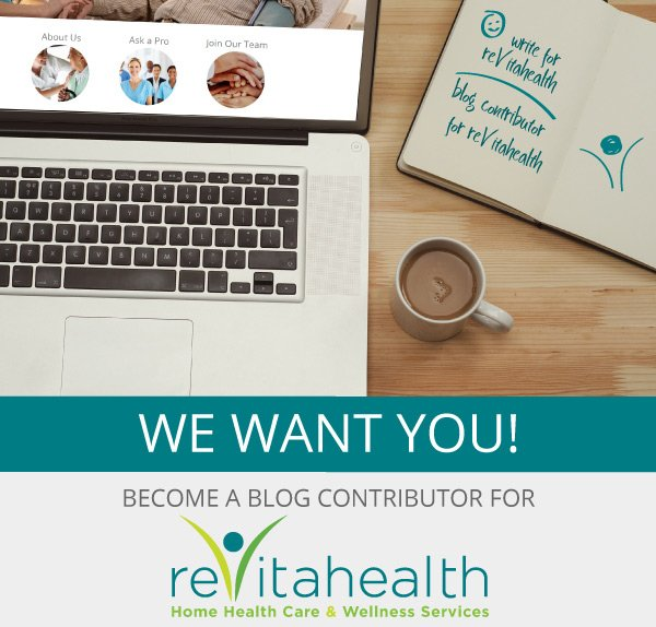 We want you! Become a blog contributor for ReVitahealth!