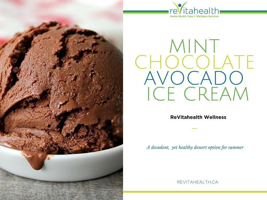 Vegan Mint Chocolate Avocado Ice-cream