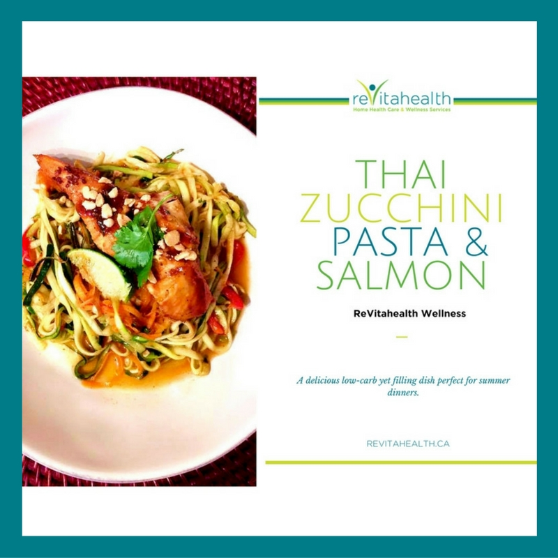 ReVitahealth Spicy Thai Zucchini Pasta
